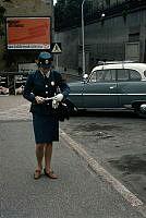 Parkeringsvakt vid Högbergsgatan. Korsningen Södergatan. Vid nuvarande Skaraborgsgatan.