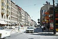 Hornsgatan österut från Timmermansgatan mot Mariatorget. Till vänster kv. Ormen Större.
