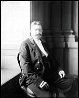 Porträtt av statsrådet Meyer.