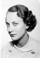 Anne-Marie Brunius. Porträtt av skådespelerskan Anne-Marie Brunius.