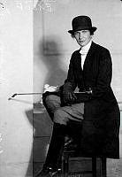 Porträtt av kvinna, Eklöf.