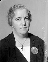 Porträtt av kvinna, Gierow.