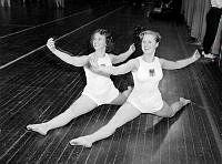 Gymnastik av Solstadflickor i Eriksdalshallen.
