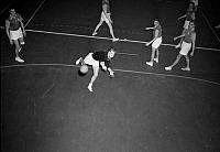 Ringvägen 68 och 70, Eriksdalshallen. Handbollsmatch mellan AIK och Lidingö.