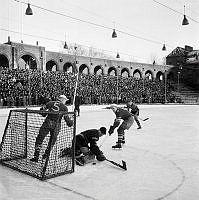 Stadion. Ishockeymatch mellan AIK och Hammarby.