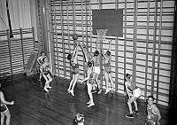 Lidingövägen 1, Gymnastiska Centralinstitutet (GCI). Uppvisning i basket.