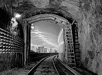 Fridhemsplans tunnelbanestation. Interiör i tunnel, vänthall och plattform. Den västra grenen, Kungsgatan/Hötorget - Vällingby invigdes 26.10.1952.